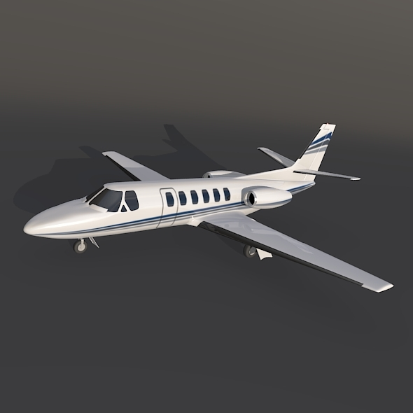 Cessna 550 citation II private jet - 3DOcean Item for Sale