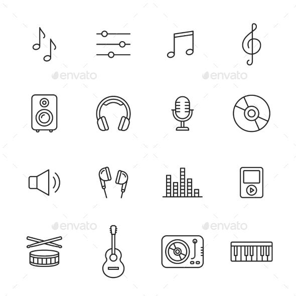 Music Icons - Media Icons