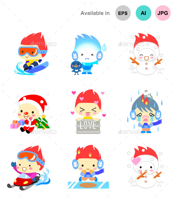 Cute Cartoon Characters - Characters Icons