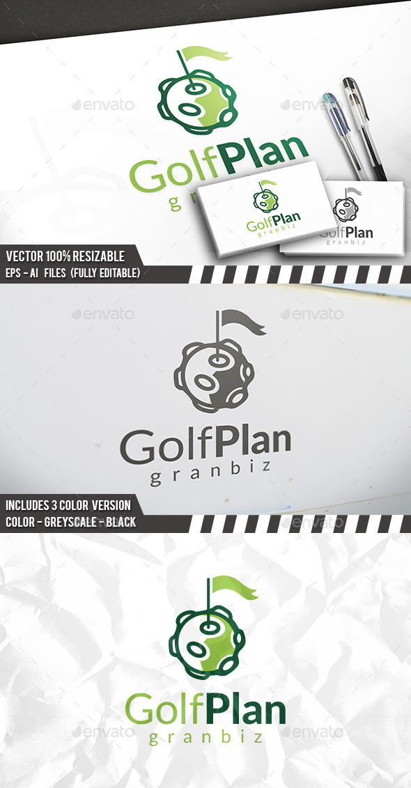 Golf Planet Logo - Objects Logo Templates