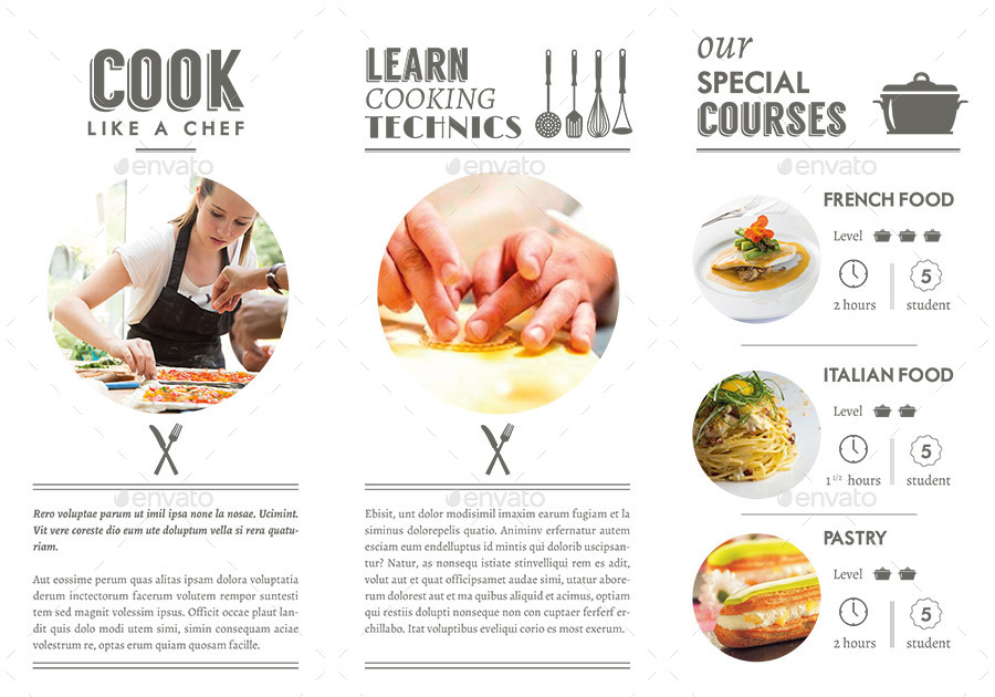 Cooking Classes Trifold By Niklofr Graphicriver