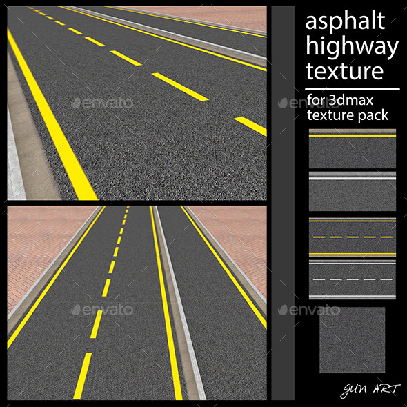 asphalt highway texture - 3DOcean Item for Sale