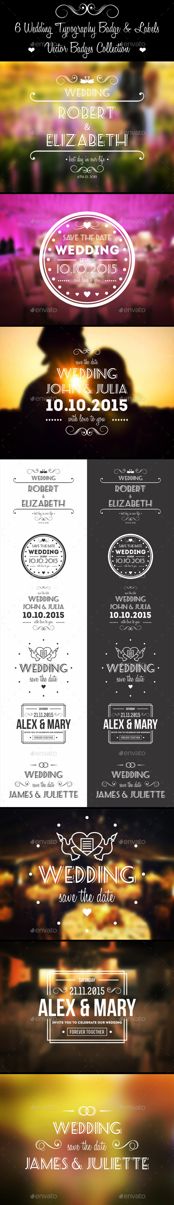 Wedding Badges Labels