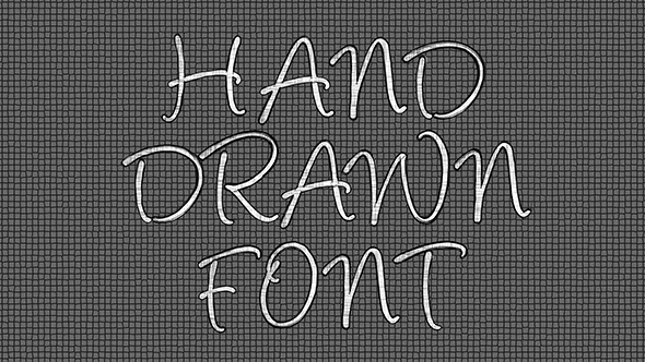 Hand Drawn Font Pack 1