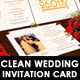 Clean Wedding Invite  - GraphicRiver Item for Sale