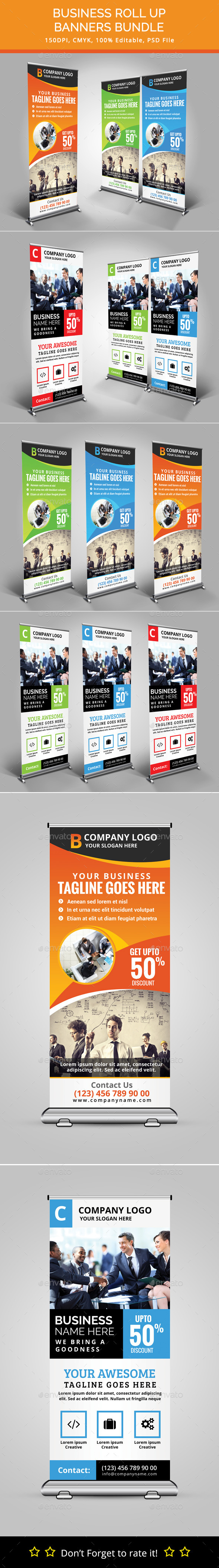 Bundle of 2 Business Rollup Banners - Signage Print Templates