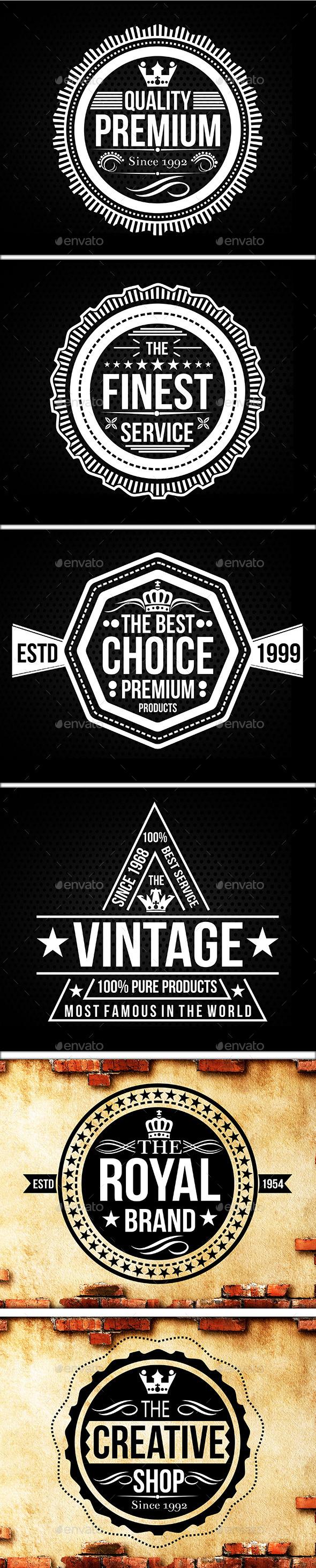 Vintage Logo Badges Set