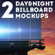 2 Day and Night Wide Billboard Mockups - GraphicRiver Item for Sale