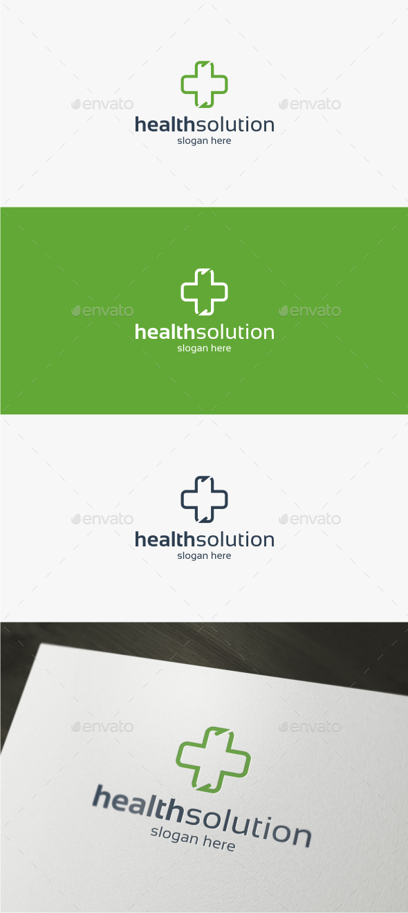 Health Solution - Logo Template - Symbols Logo Templates