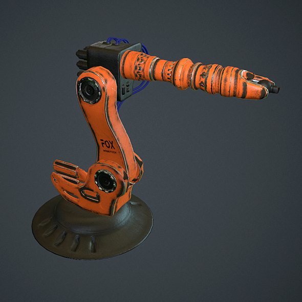 Industrial Robotic Arm  - 3DOcean Item for Sale