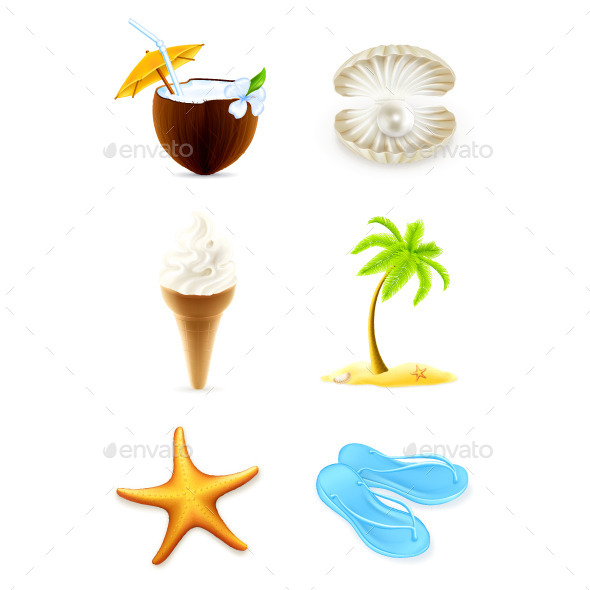 Summer Illustration Icons - Miscellaneous Vectors