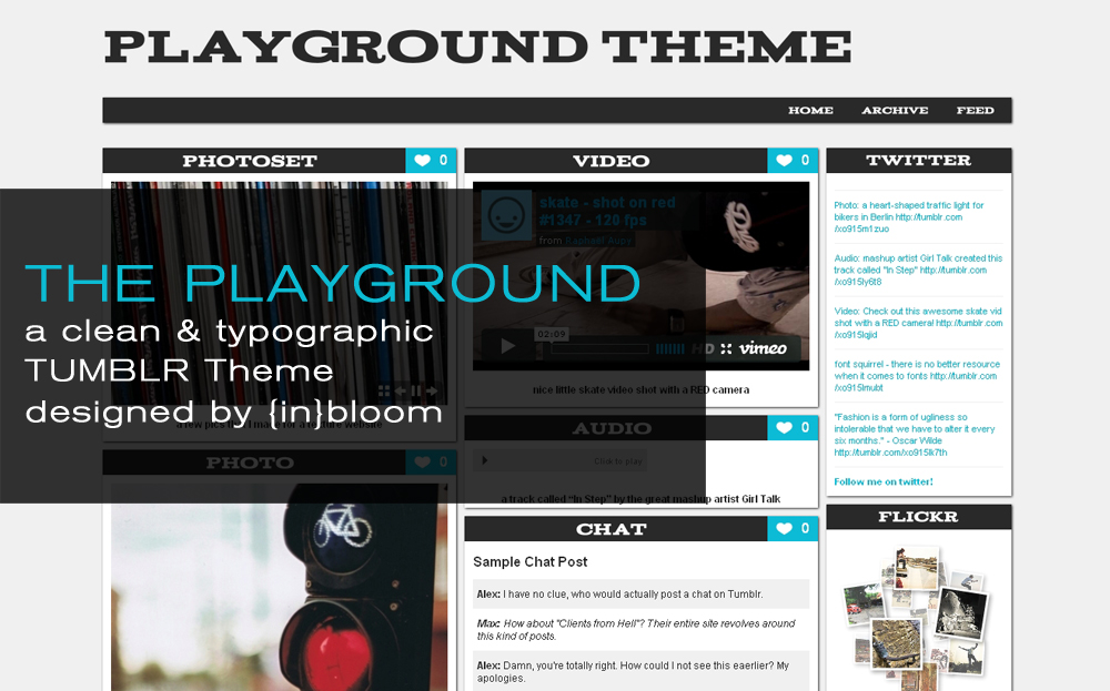 Free Download The Playground Tumblr Theme Nulled Latest Version
