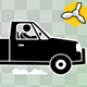 Stick Figure Driving Pickup Truck - VideoHive Item for Sale