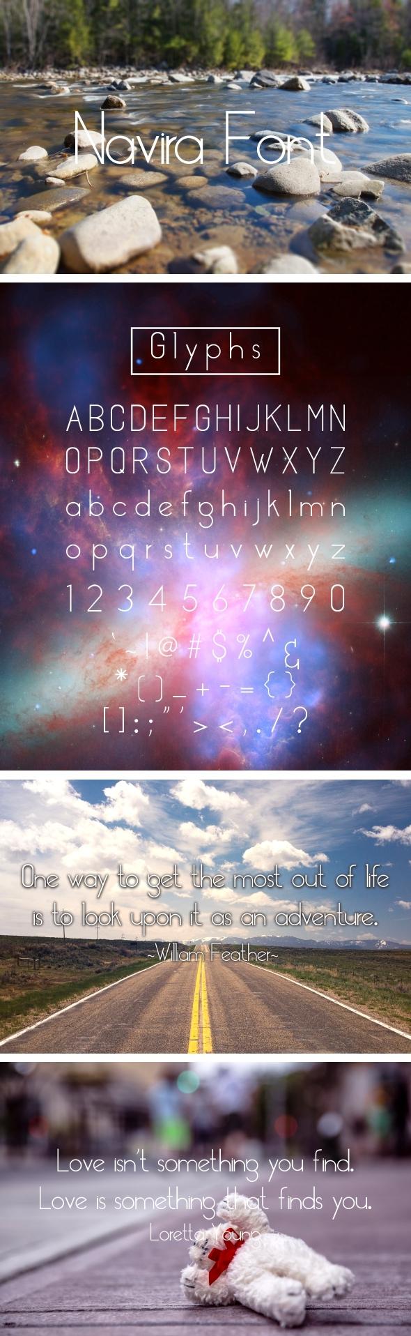 NAVIRA FONT - Sans-Serif Fonts