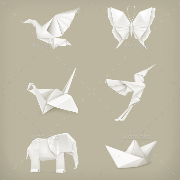 Origami Animals Icons - Miscellaneous Vectors