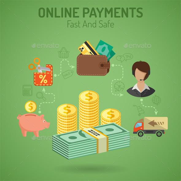 Online Payments Concept - Concepts Business