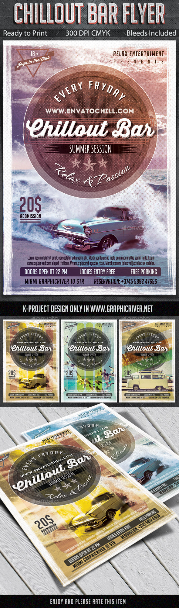 Chillout Bar Flyer - Clubs & Parties Events