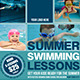 Summer Swimming Lessons Flyer Template - GraphicRiver Item for Sale