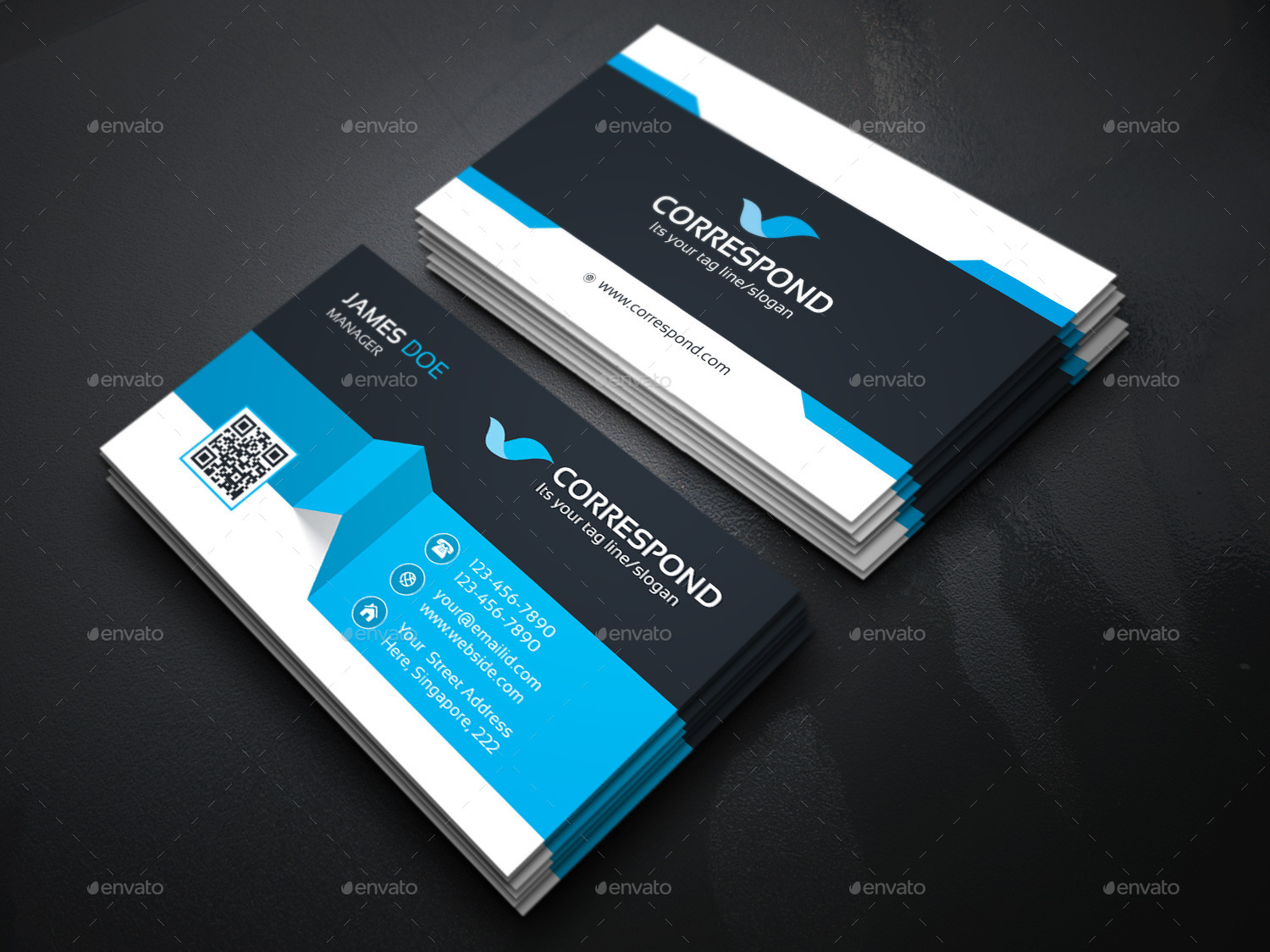 Business Card Bundle 2 in 1_3 by generousart | GraphicRiver