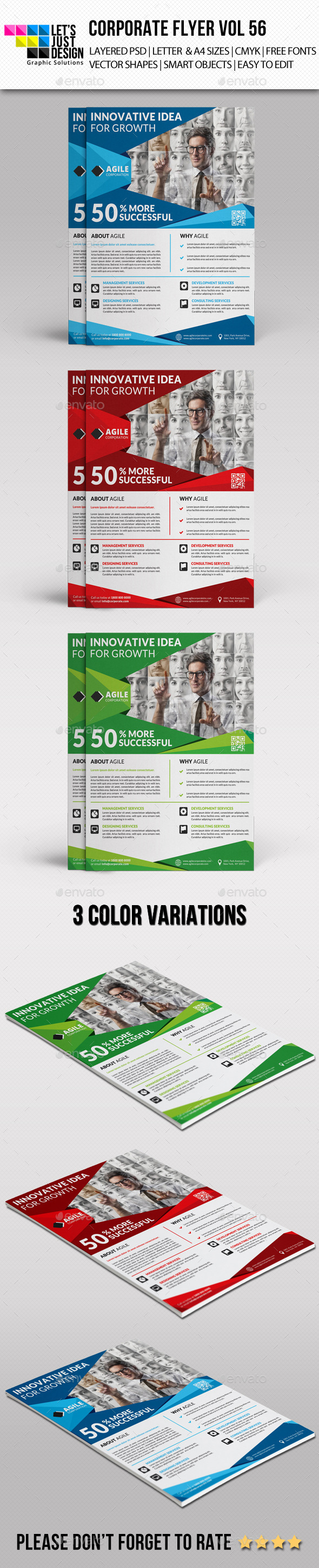 A4 Corporate Flyer Template Vol 56 - Corporate Flyers