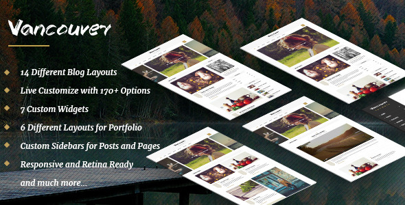 Vancouver – A Responsive WordPress Blog Theme