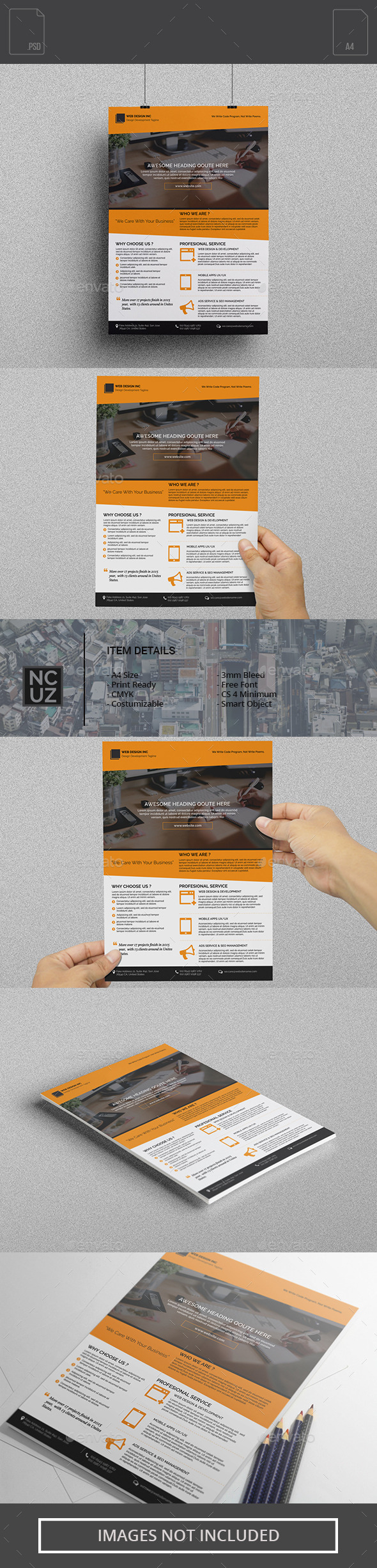 Flyer Web Design Company - Corporate Flyers