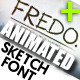 Fredo Animated Sketch Font - VideoHive Item for Sale