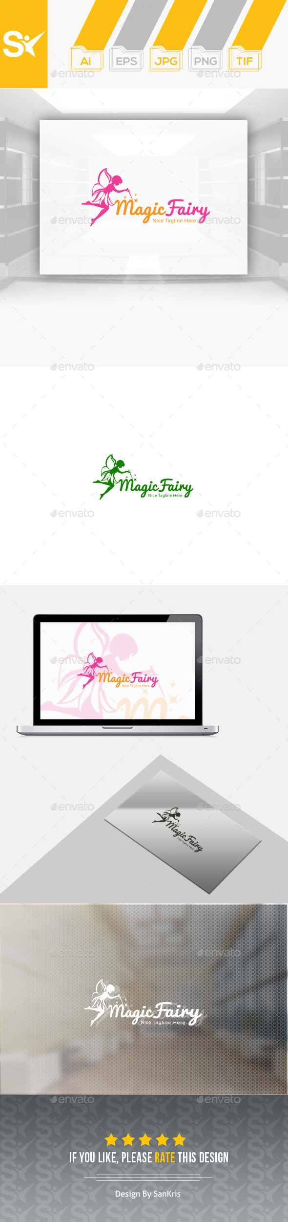 Magic Fairy Logo - Nature Logo Templates