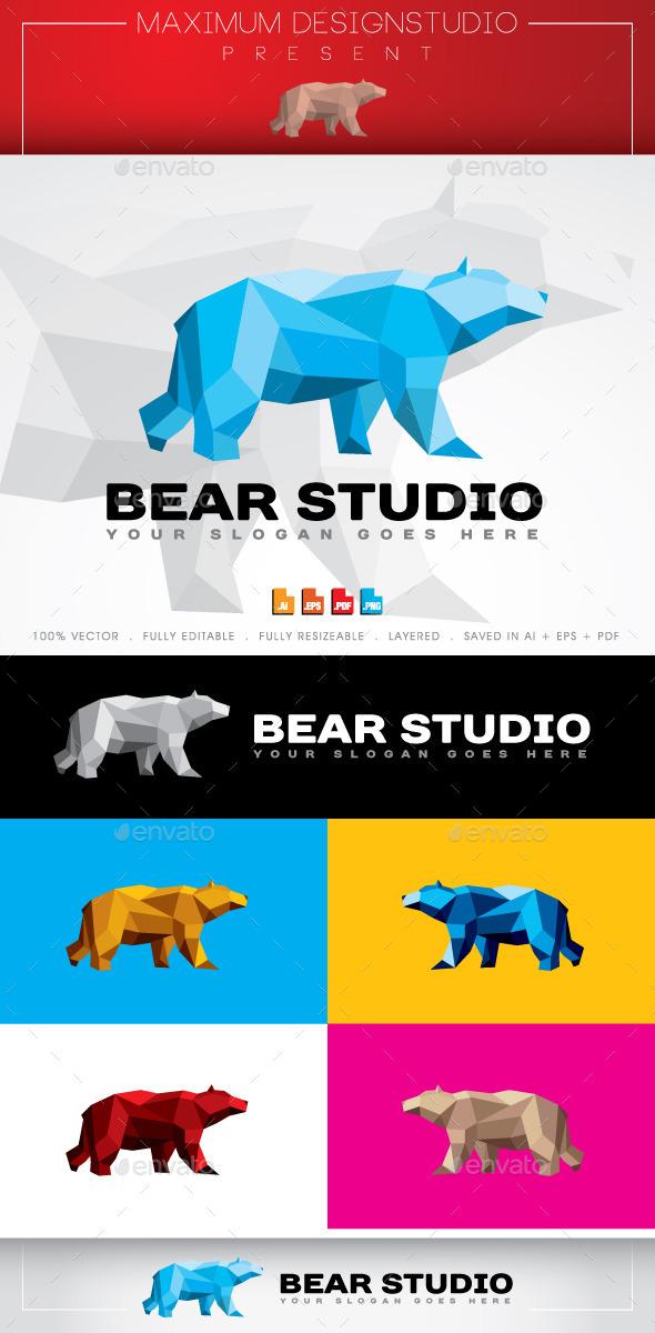 Bear Studio Logo - Animals Logo Templates