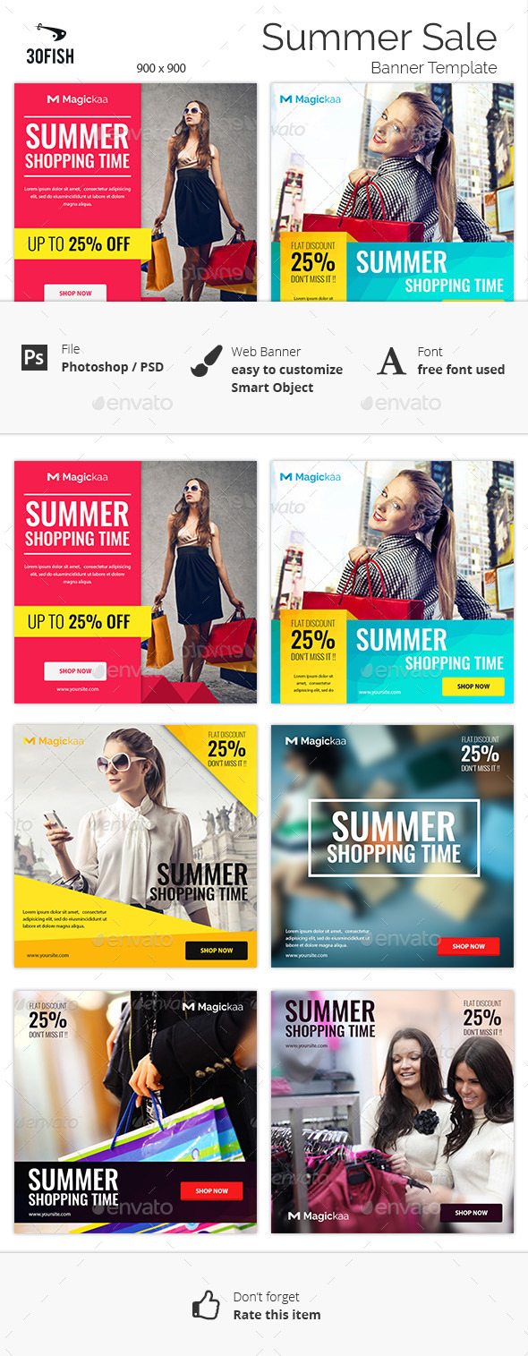 Summer Sale Banner - Banners & Ads Web Elements