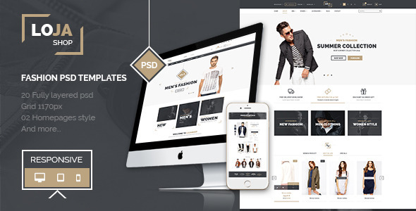 LOJASHOP PSD TEMPLATES - Fashion Retail