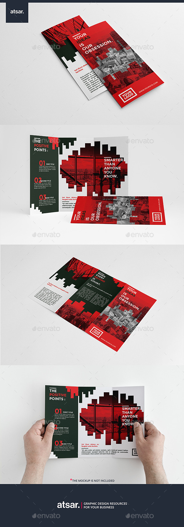 Red Bar Trifold - Corporate Brochures