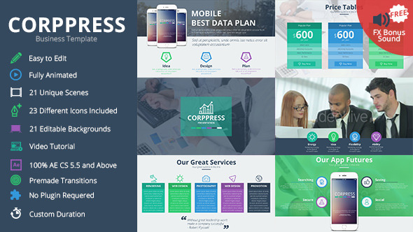 corppress - business presentationturboart | videohive, Presentation templates