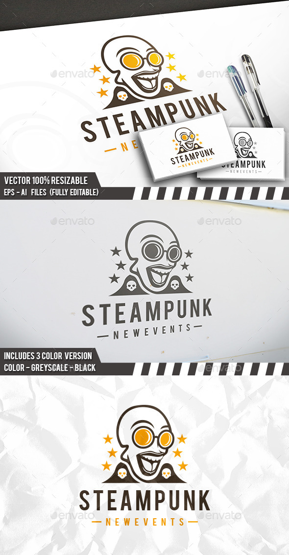 Steampunk Logo - Humans Logo Templates