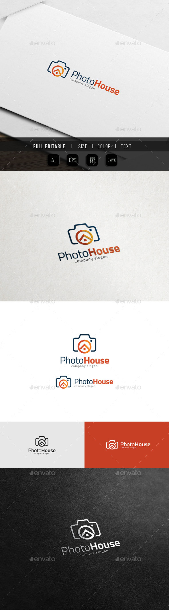 House of Camera - Photo Studio Logo - Buildings Logo Templates