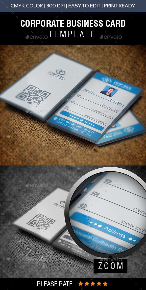 Drop Box Business Card - Business Cards Print Templates