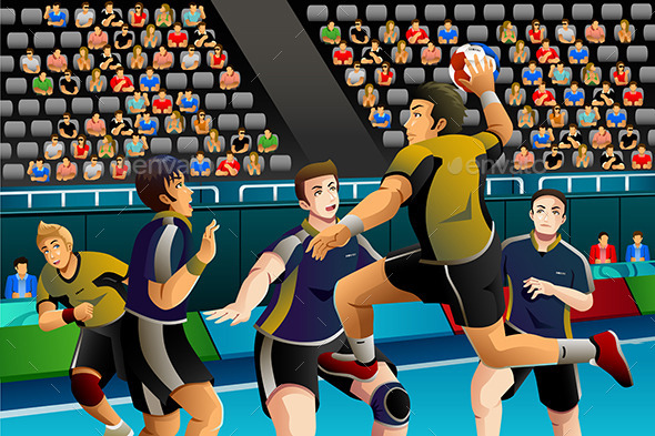 People Playing Handball in the Competition - Sports/Activity Conceptual