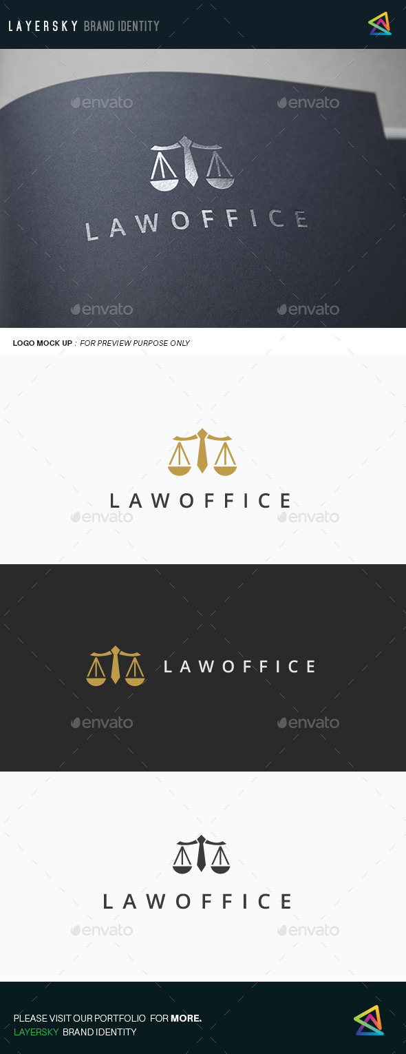 Law Office - Objects Logo Templates