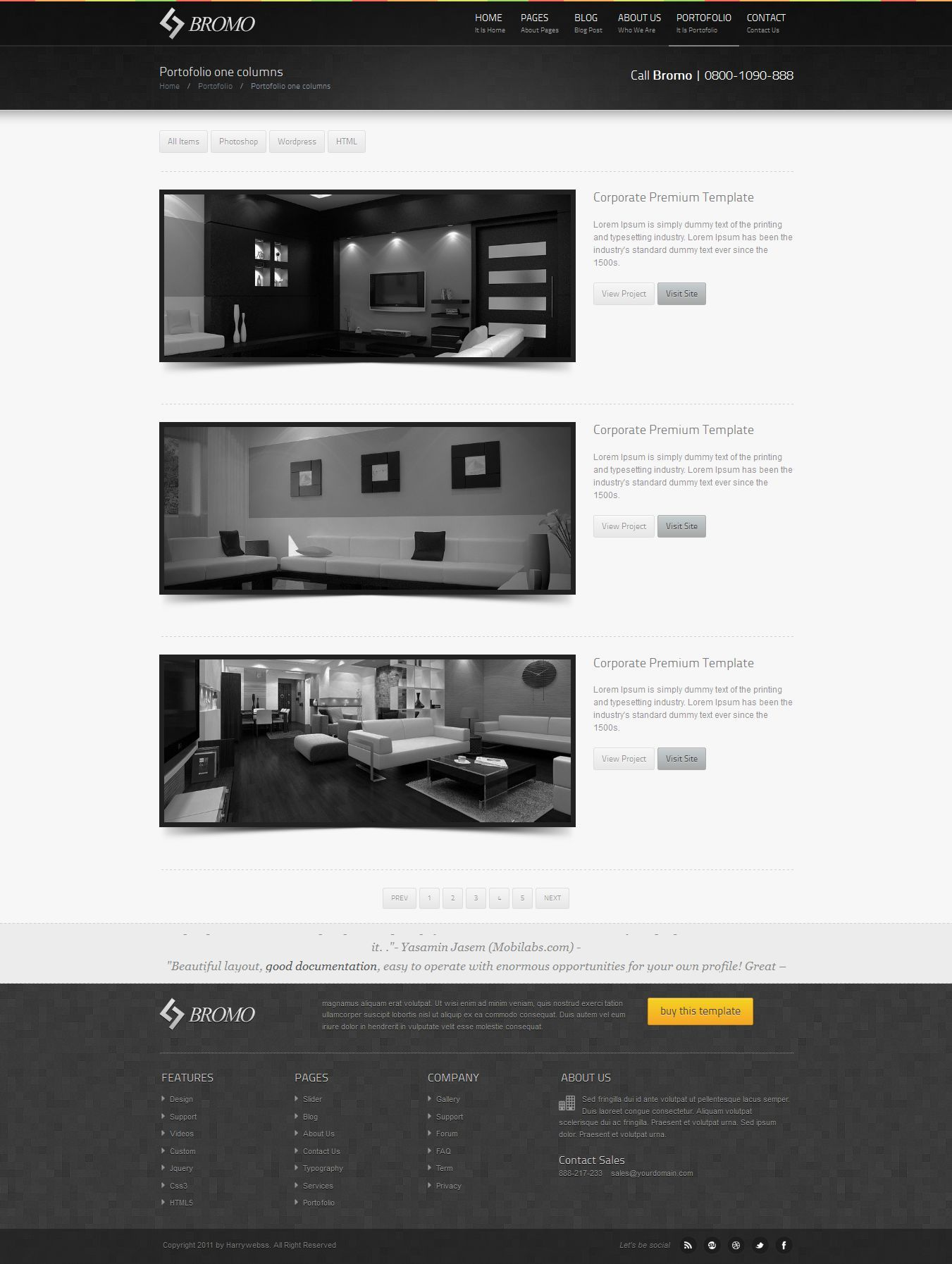 Bromo - Premium Responsive Business HTML5 Template by abbatidesign