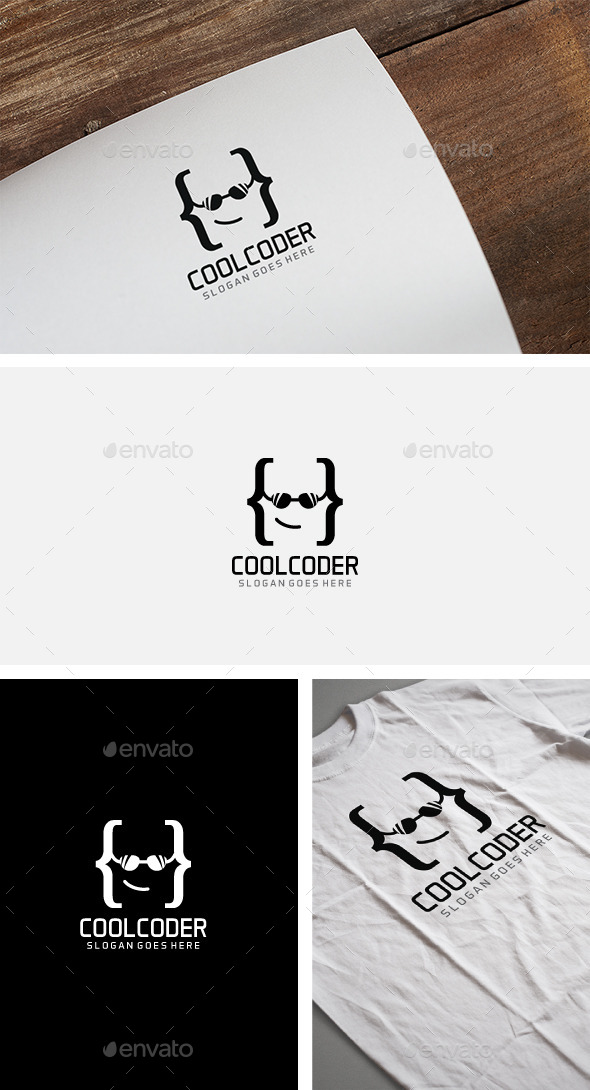 Cool Coder Logo - Humans Logo Templates
