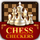 Chess and checkers game kit - GraphicRiver Item for Sale