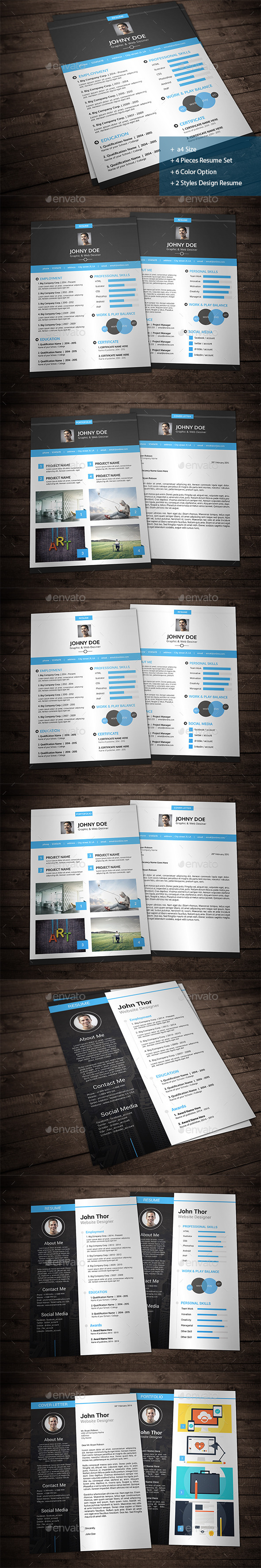 Creative Resume Bundle - Resumes Stationery