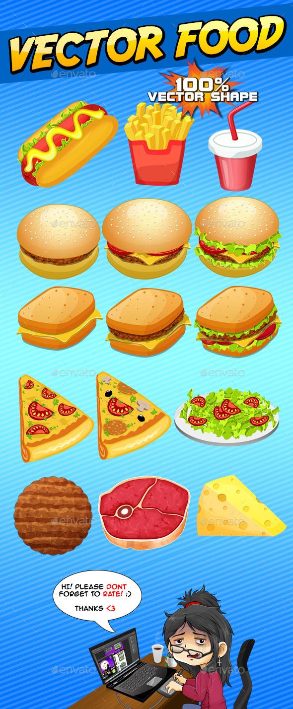15 Customizable Vector Food - Illustrations Graphics