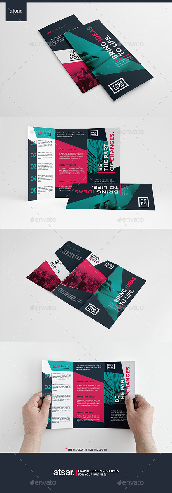 Colorful Modern Trifold - Corporate Brochures