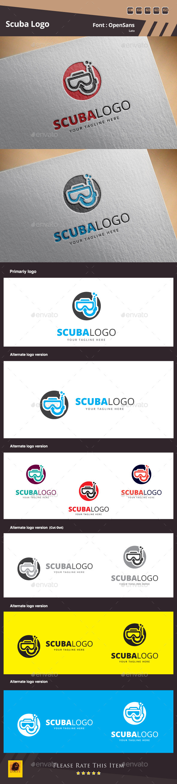 Scuba Logo Template - Symbols Logo Templates