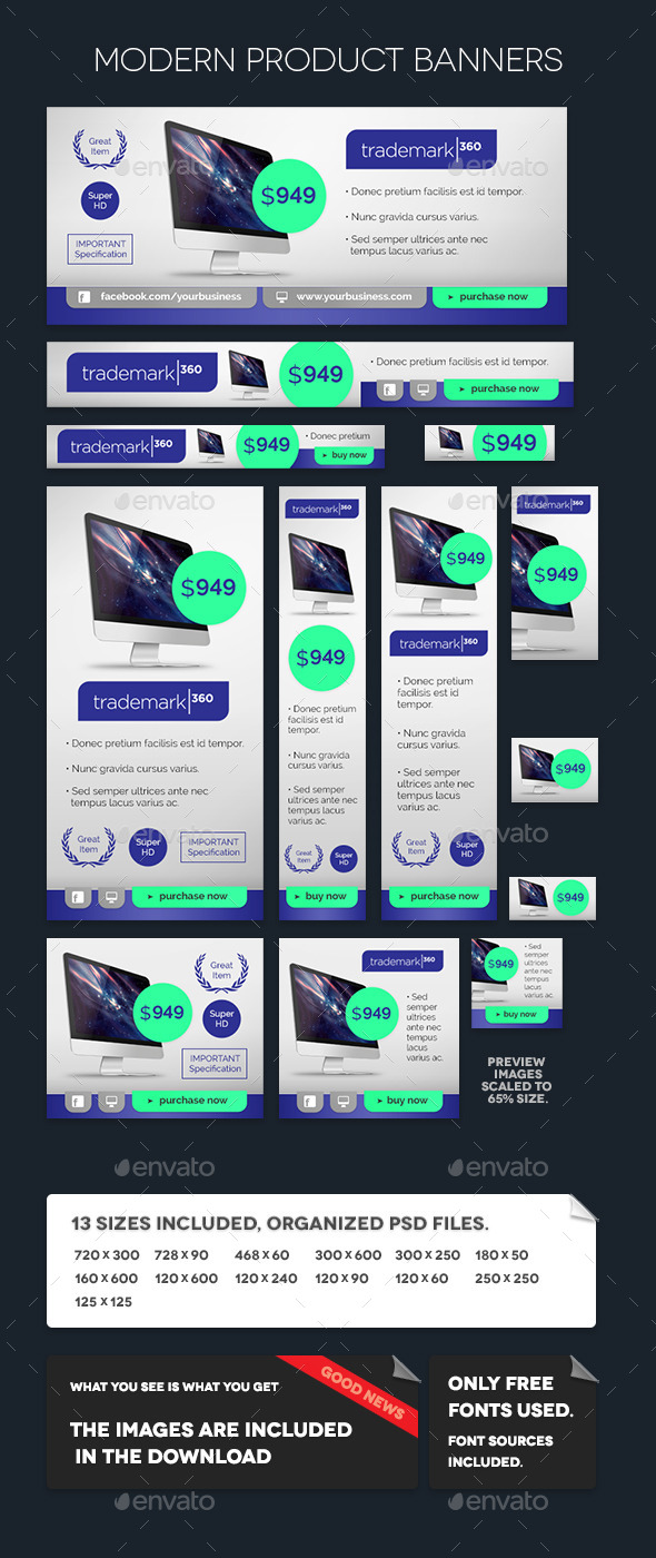 Modern Product Banner Templates - Banners & Ads Web Elements