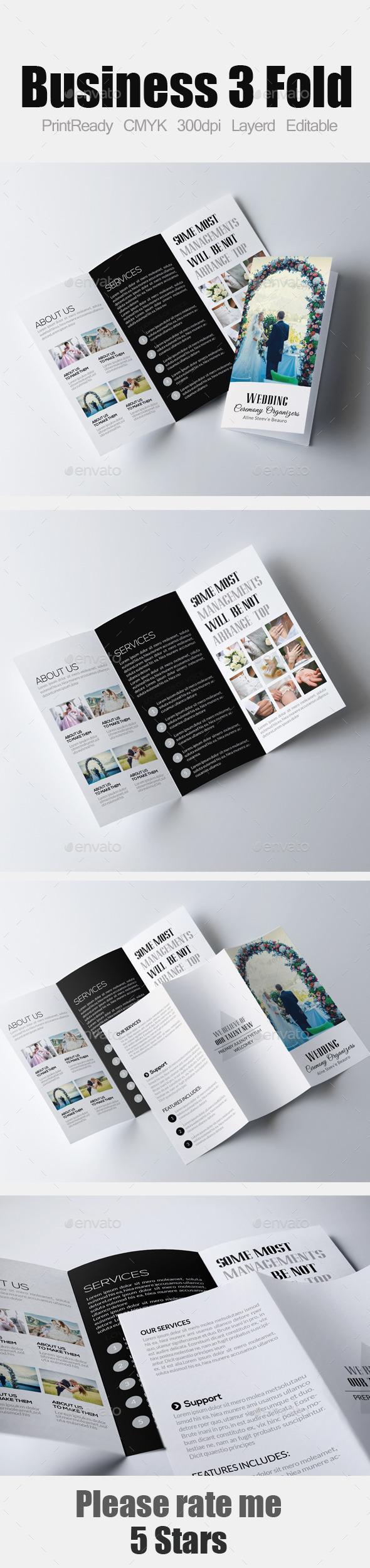 Wedding Business Tri Business Brochure - Corporate Brochures