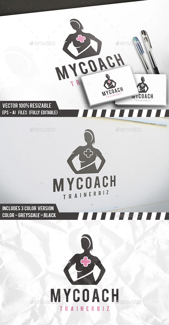 Woman Coach Logo - Humans Logo Templates