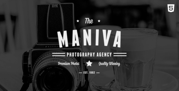 Photography Agency – Maniva HTML Template