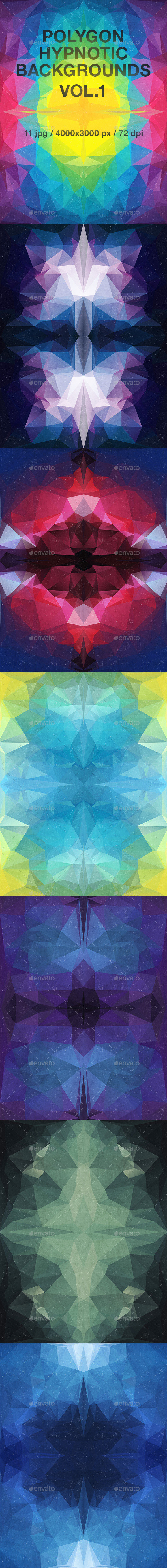 Polygon Hypnotic Backgrounds Vol.1 - Abstract Backgrounds